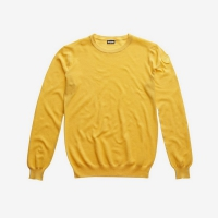 Джемпер BLAUER MEN'S PIQUET KNIT CREW NECK SWEATER CANARY