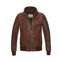 Куртка BLAUER CARTER LEATHER BOMBER BROWN