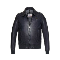 Куртка BLAUER ANDREW LEATHER BOMBER DARK NIGHT