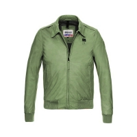 Куртка BLAUER ANDREW LEATHER BOMBER GREEN ALGAE