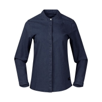 Рубашка BERGANS OSLO W DENIM SHIRT DARK DENIM
