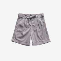 Шорты BLAUER LINEN SHORTS WITH BELT GREY PIGEON