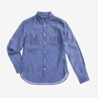 Рубашка BLAUER MEN'S LINEN SHORT SLEEVE SHIRT LIGHT BLUE