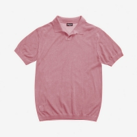 Поло BLAUER MEN'S KNIT POLO PINK HEATHER
