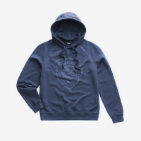 Джемпер BLAUER MEN'S GARMENT DYED HOODED BLUE SAPPHIRE