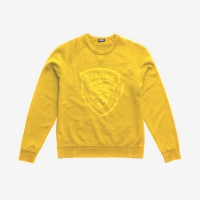 Джемпер BLAUER MEN'S GARMENT DYED CREW NECK CANARY